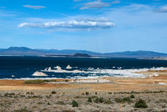 Mono Lake. With its salt pilars Royalty Free Stock Photo