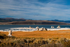 Mono Lake. With its salt pilars Royalty Free Stock Photography