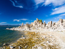 Mono Lake. Landscape. Mono Lake, California. Tufa by the lake Royalty Free Stock Image