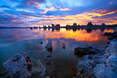 Mono lake. Magic Sunrise at Mono Lake, California Stock Image
