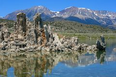 Mono Lake & Mountains. Mono Lake in the Sierra Nevada Stock Photography