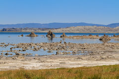 Mono Lake Shore and Tufa Formations, California Royalty Free Stock Images
