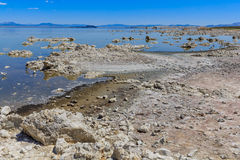 Mono Lake Shore and Tufa Formations Royalty Free Stock Photos