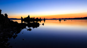 Mono Lake Sunrise Reflections Royalty Free Stock Photos
