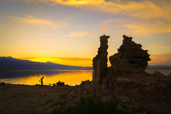 Mono Lake Sunset stock image