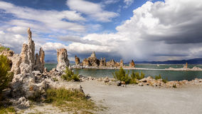 Mono Lake Tufa, California. Amazing tufa towers at Mono Lake, State Natural Reserve. California Royalty Free Stock Images