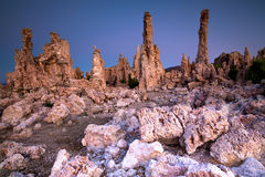 Mono lake tufa formation Stock Photos
