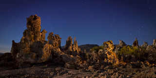Mono Lake Tufa Formations at Night Royalty Free Stock Photography