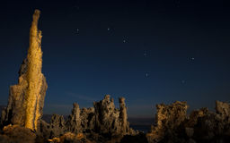 Mono Lake Tufa Formations at Night Stock Images