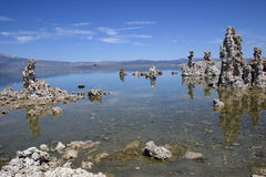 Mono Lake Tufa Formations with reflections Stock Photography