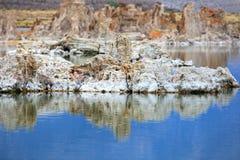 Mono lake Tufa formations Stock Image
