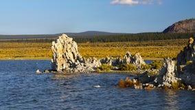 Tufa Formations, Mono Lake, California. Mono Lake Tufa Formations, State Natural Reserve. California Stock Image