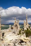 Tufa Formations, Mono Lake, California, USA. Mono Lake and Tufa Formations, State Natural Reserve. California, USA Stock Image