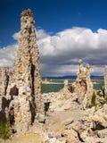 Tufa Formations, Mono Lake, California, USA. Mono Lake and Tufa Formations, State Natural Reserve. California, USA Stock Photos