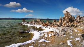 Tufa Formations, Mono Lake, California, USA. Mono Lake and Tufa Formations, State Natural Reserve. California, USA Stock Photography