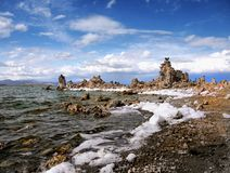 Tufa Formations, Mono Lake, California, USA. Mono Lake and Tufa Formations, State Natural Reserve. California, USA Stock Photography