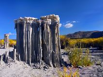 Mono Lake Tufa Towers. Impressive natural tufa formations on the Mono Lake shore. State Natural Reserve, California Royalty Free Stock Images
