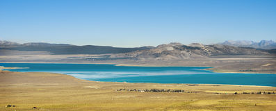 Mono Lake Vista, California. A view of the Mono Basin and Mono Lake, a salty lake with water three times saltier than the ocean, east of the Sierra Nevada Stock Image