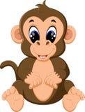 Mono lindo de la historieta Imágenes de archivo libres de regalías