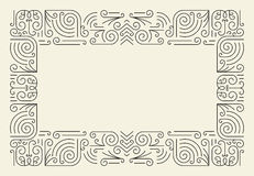 Mono Line Frame. Simple Certificate Border. Template Stock Images