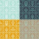 Mono linje mallar för vektor för grafisk design royaltyfri illustrationer
