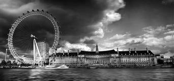 Mono London öga Fotografering för Bildbyråer