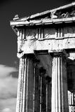 Mono marble columns and pediment of Parthenon Royalty Free Stock Photos