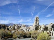 Mono Meer en Siërra Nevada Royalty-vrije Stock Afbeeldingen