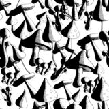 Mono Monopaddestoel vector illustratie