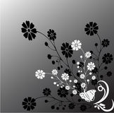 Mono Nature. Work with vectors,illustration Stock Images