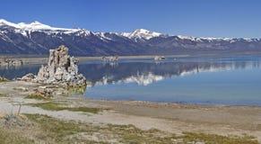 mono panorama för lake Royaltyfri Fotografi