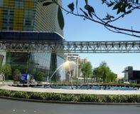 Mono Rail in Vegas. Mono Rail next to Aria hotel in Las Vegas Royalty Free Stock Photo