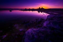 Mono sjösoluppgång Royaltyfria Foton
