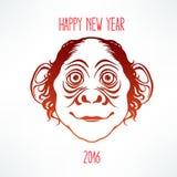 Mono sonriente lindo ilustración del vector