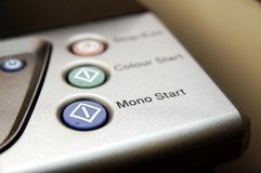 Mono start button of printer Royalty Free Stock Image