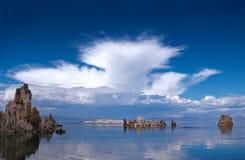 Mono tobas volcánicas del lago Imágenes de archivo libres de regalías
