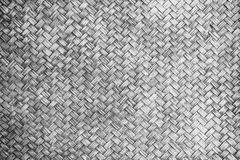 Mono tone woven bamboo close up texture. For background Royalty Free Stock Photo