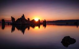 Mono tramonto del lago Fotografia Stock Libera da Diritti
