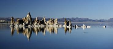 Mono tufi del lago Fotografia Stock