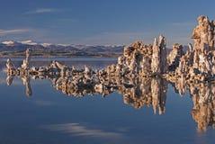mono vinter för lake Arkivbilder
