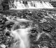 Mono Waterfall. Black and white image of a ford in Exmoor Stock Photo