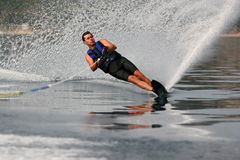 Mono waterskiing Stock Photo