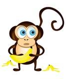 Mono y plátanos Fotografía de archivo libre de regalías