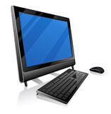 monoblock компьютера Стоковая Фотография RF