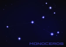Monoceros constellation Royalty Free Stock Photos