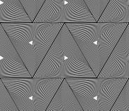 Monoch спиральных треугольников геометрическое плавно repeatable абстрактное иллюстрация вектора