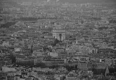 Monochome von Paris von der Spitze Stockfotografie