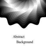 Monochrom bewegt das Schimmern wellenartig, von der Dunkelheit, zum von Tönen zu beleuchten Schablone für Visitenkarten, Aufklebe Stockfotografie