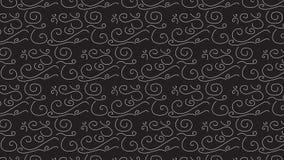 Monochrom kritzelt Muster Stockfoto