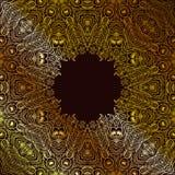 monochrom kwiecisty tło Ręka rysujący dekoracyjni elementy Obraz Stock